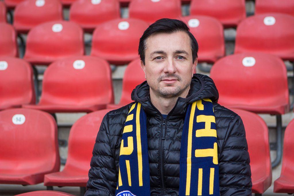 Daniel Meyer, Cheftrainer von Eintracht Braunschweig, ist am 20. Oktober 2020 bei Eintracht InTeam auf Radio Okerwelle zu Gast