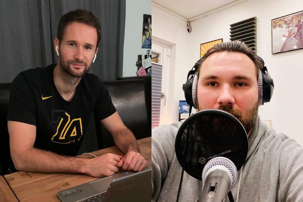 Nick Proschwitz und Rapper Kayee in Eintracht InTeam 279 Radio Okerwelle Braunschweig